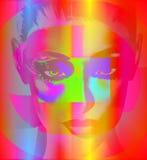 Punkart digital image, het Gezicht van de Vrouw Royalty-vrije Stock Fotografie