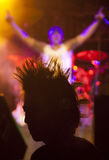 Punker. Silhouette of a punker at a concert Stock Photography
