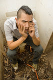 Punker asiático desperdiçado Fotografia de Stock Royalty Free