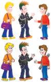 Punker en zijn vrienden Stock Afbeelding