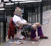 Punker in Londen stock afbeeldingen