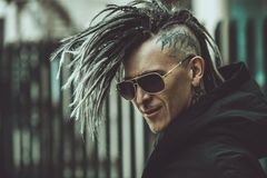 Punker op straat royalty-vrije stock foto