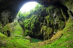 Punkevni grotta, Tjeckien Fotografering för Bildbyråer