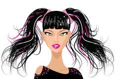 punkowi dziewczyn śliczni ponytails Zdjęcie Stock