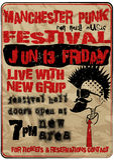 Punkowy festiwalu muzyki Machester rocznika mężczyzna T koszulowy Graficzny Wektorowy projekt Zdjęcia Stock