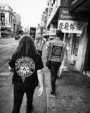 Punkrockers in Manhattan royalty free stock image