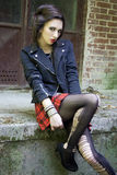 Punkrockflicka Royaltyfri Bild