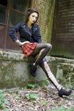 Punkrockflicka Royaltyfri Foto