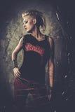 Punkrockflicka Royaltyfria Bilder