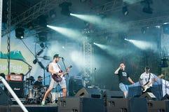 Punkrockmusikband royaltyfri fotografi