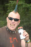 Punkrockpiercingar royaltyfri bild