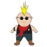 Punkrockpojke royaltyfria foton