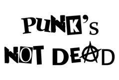 Punks not dead. Music current famous message Stock Photos