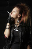 Punks prefer smoking Stock Images