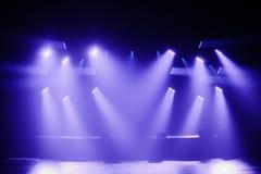 Punktów światła na Pustej scenie obraz royalty free