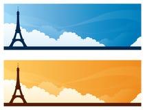 Punktów zwrotnych sztandary - Paryż royalty ilustracja