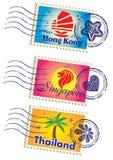 Punktów zwrotnych znaczki ustawiający Obraz Royalty Free