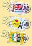 Punktów zwrotnych znaczki ustawiający Obrazy Royalty Free