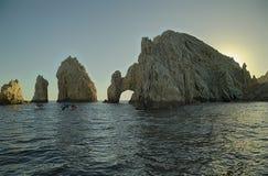 Punkt x28 & łuk; El Arco& x29; panoramiczny widok w Cabo San Lucas, Meksyk fotografia royalty free