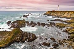 Punkt areny latarnia morska loacated o 130 milach północy San Zdjęcie Stock