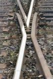 Punkt auf dem Schienenstrang Stockbilder