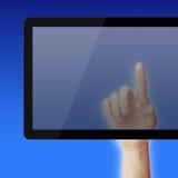 Punkt auf Tablet-PC lizenzfreies stockbild