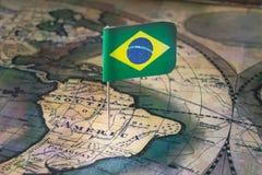 Punkt av ankomsten i Brasilien Arkivfoto