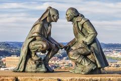 Punkt av sikten - monument i Pittsburgh, USA royaltyfria bilder