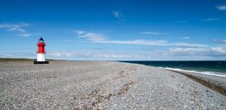 Punkt Ayre latarnia morska, wyspa mężczyzna Obrazy Stock