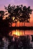 Punkt-Brisen-Sonnenuntergang Stockfoto