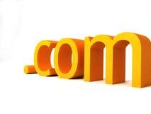 Punkt-COM-Text Stockbild