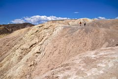 Punkt Death- ValleyZabriskie Lizenzfreie Stockfotos