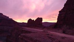 Punkt der im Voraus bezahlten Leistungen des Sonnenuntergangs in Utah stockbild