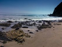 Punkt Dume, Malibu kust royaltyfria foton