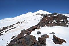 punkt elbrusEuropa för högst maximum russia Arkivbilder