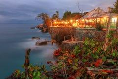 Punkt för 3 dykar, Negril, Jamaica royaltyfri foto