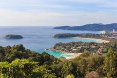 Punkt för Phuket ösikt, Kata Karon Patong Beach Arkivfoto