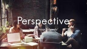 Punkt för synvinkel för perspektivinställningståndpunkt av siktsbegreppet arkivbild