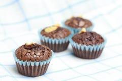Punkt filiżanki torta czekolady dokrętka Fotografia Stock