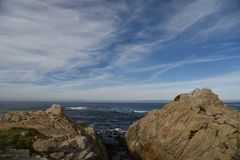Punkt Joe, Pebble Beach, 17 Meilen-Antrieb, Kalifornien, USA Lizenzfreie Stockfotografie