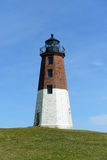 Punkt Judith Lighthouse, Narragansett, RI, USA Arkivbilder