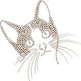 Punkt-Katze Lizenzfreies Stockfoto
