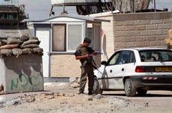punkt kontrolny izraelita wojskowy Zdjęcie Stock