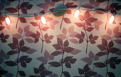 punkt lampowa ściana Obraz Royalty Free
