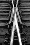 punkt linia kolejowa Fotografia Royalty Free