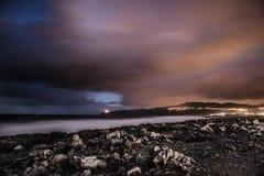 Punkt nocą Zdjęcie Royalty Free