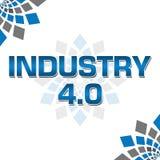 Punkt null blaues Grey Elements Square der Industrie-vier Lizenzfreies Stockfoto