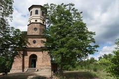 Punkt obserwacyjny basztowy Babylon w republika czech, wierza jest kamienny w Empir Obrazy Royalty Free