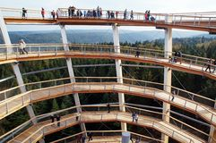 Punkt obserwacyjny basztowy Zły Wildbad - Czarnego lasu widok Zdjęcie Stock