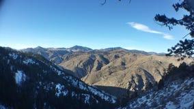 Punkt obserwacyjny góra w zimie Zdjęcia Royalty Free
